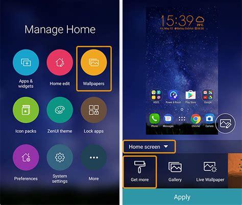 wallpaper lock screen asus zenfone zenui launcher how to customize your zenfone home screen