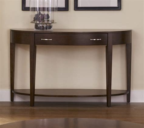 dark wood sofa table half moon console table with drawers cherry wood sofa