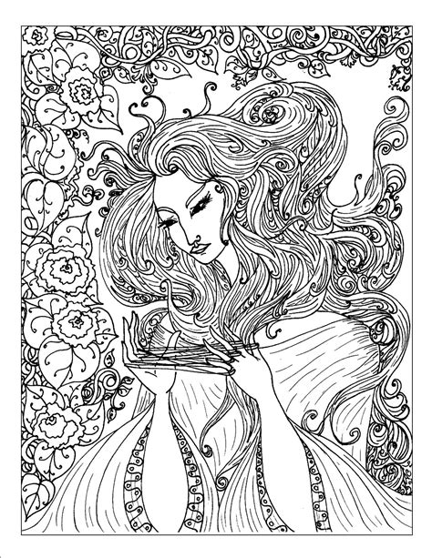 free coloring pages of complicated adult