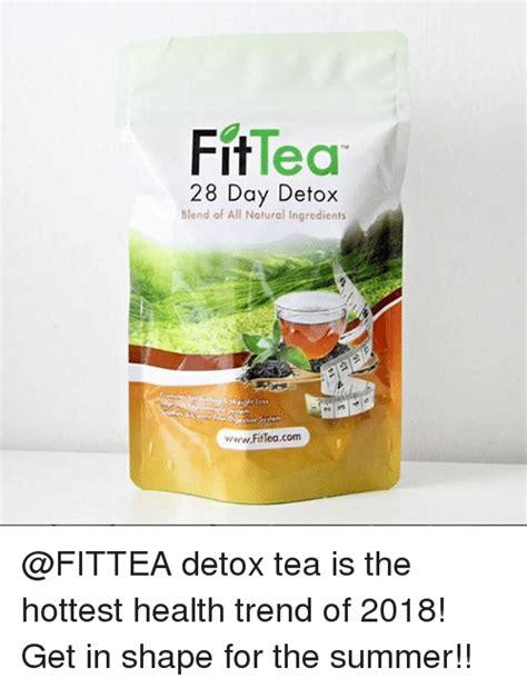 Detox Tea Ingredients by Fittea 28 Day Detox Blend Of All Ingredients