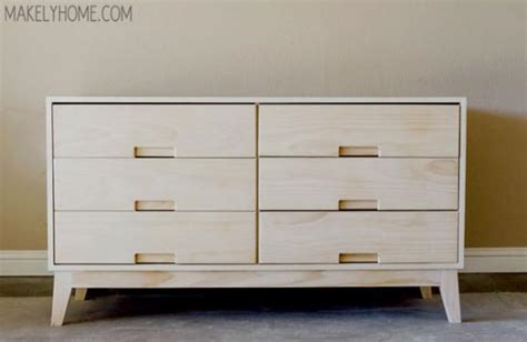 simple dresser drawer plans free diy furniture plans how to build a steppe 6 drawer