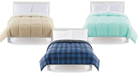 kohls reversible comforter kohl s the big one down alternative reversible comforter
