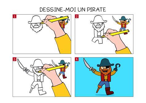 dessin facile bateau pirate apprendre 224 dessiner un pirate en 3 233 tapes