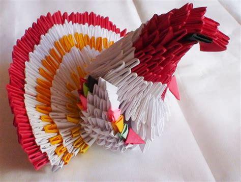 Origami Thanksgiving Turkey - 3d origami turkey