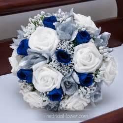 blue and silver wedding thebridalflower on artfire