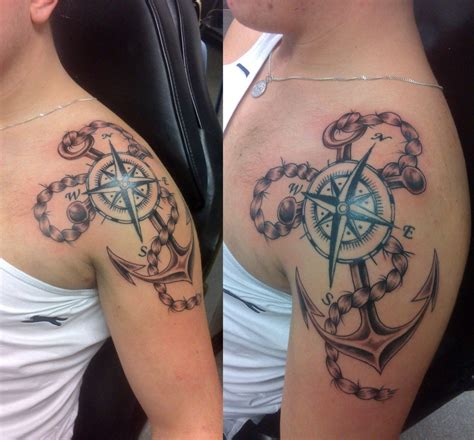 compass anchor tattoo 20 awesome anchor and compass entertainmentmesh
