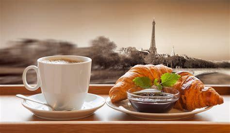 Coffee Breakfast Wallpaper | croissant breakfast baking croissant breakfast coffee cup