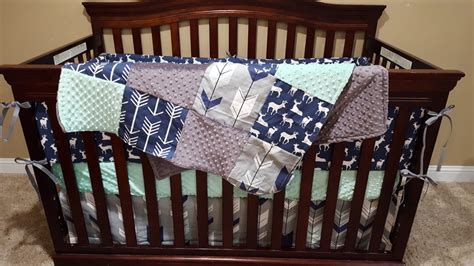 Baby Boy Crib Bedding Navy Deer Fletching Arrow Navy Deere Crib Bedding For Boys