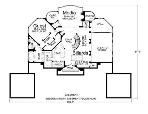 entertaining house plans villa capri 6018 3 bedrooms and 3 5 baths the house