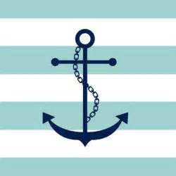 Chevron Duvet Navy Blue And Mint Anchor And Stripes Art Print By
