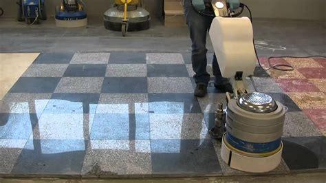 Granite floors grinding and polishing with Klindex