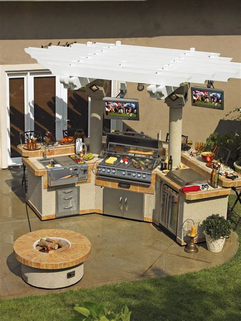 outside kitchens designs optimizing an outdoor kitchen layout hgtv