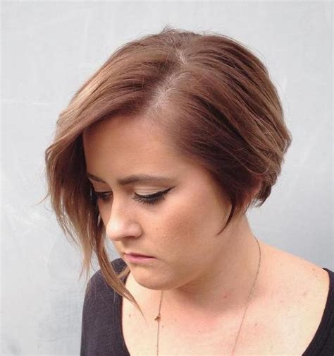 asymmetric fine hair bob hairstyle over 40 for round face for 2015 fine hair asymetric bobs short hairstyle 2013