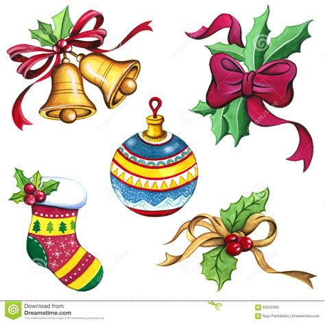 raccolta clipart clip set raccolta di natale dell acquerello di natale