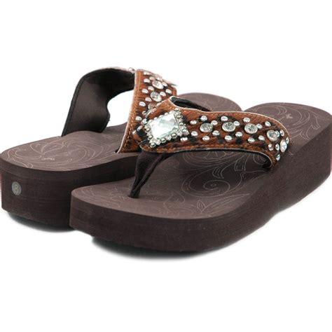 montana west sandals montana west hair on western bling flip flops clear