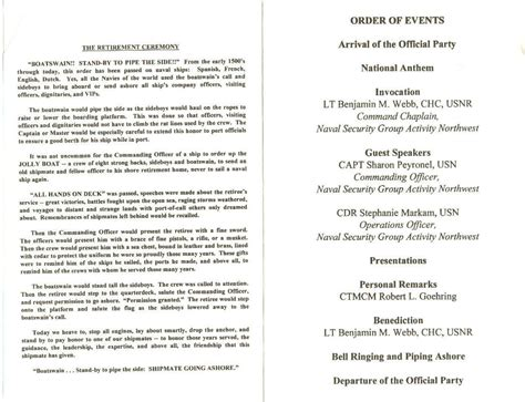 ceremony program template best photos of retirement dinner program template