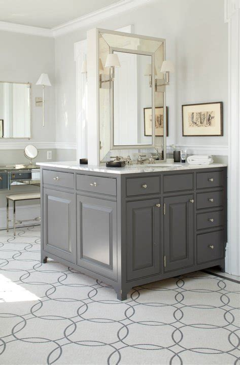 Double Sided Bathroom Vanity Contemporary Bathroom Gray Bathroom Vanities