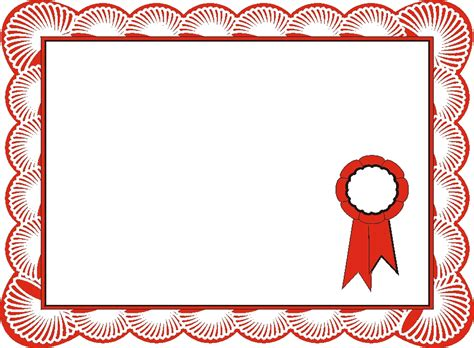 certificate design red red border certificate templates blank certificates