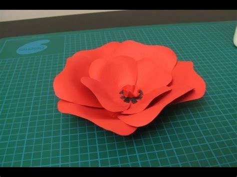 Origami Poppy Flower - diy poppy flower made of paper qcp