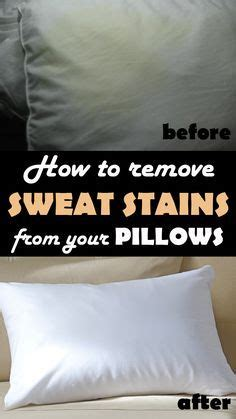How To Get Yellow Stains Out Of Pillows by 25 Best Ideas About Remove Sweat Stains On Sweat Stains Cleaning Sweat Stains And