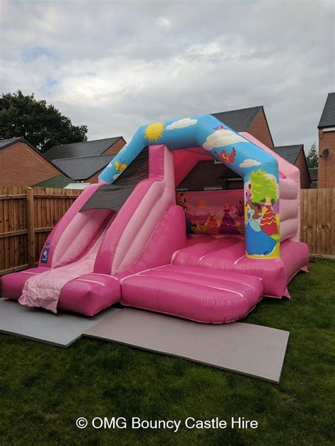princess childrens bouncy castle  combo leicester