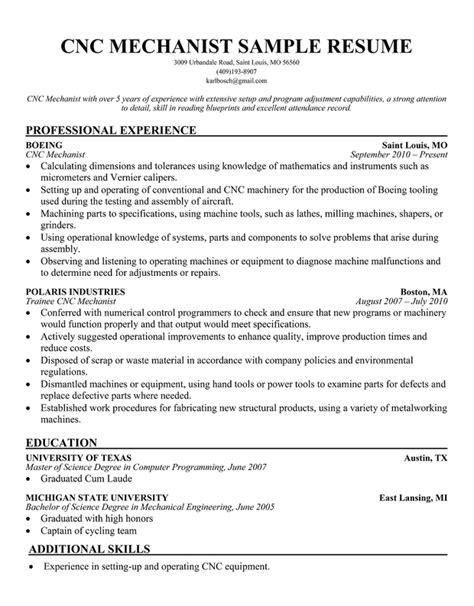 resume exle for machinist resume ixiplay free resume