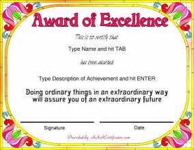 awards template free achievement certificates templates certificate234