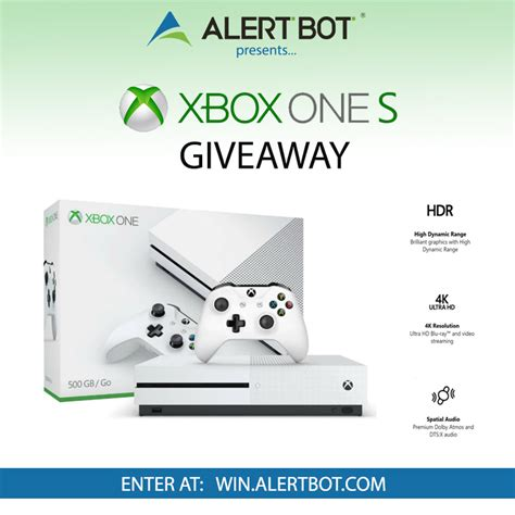 Free Xbox One Console Giveaway - alertbot xbox one s console giveaway giveaway monkey