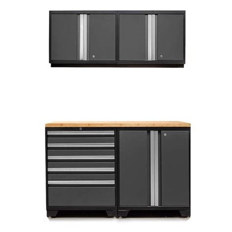 home depot garage cabinet newage products performance 75 in h x 108 in w x 18 in d steel garage cabinet set in black 7