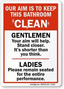 bathroom edicate keep bathroom clean signs
