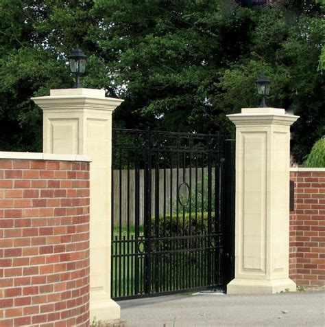 brick l post designs pair oflarge gate posts pillars from acanthus ebay