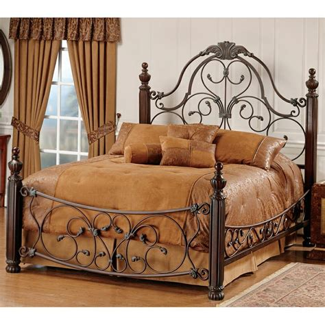 Wood And Iron Headboard Bonaire Iron Wood Bed Wood Metal Beds Headboards Post Beds Rooms Of Metal Pinterest