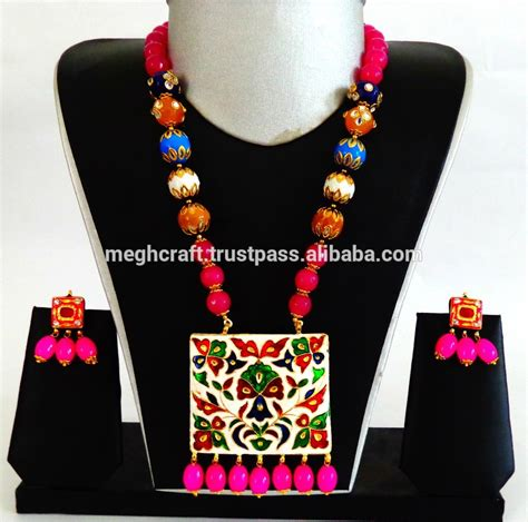 navratri festival wear jewellery oxidized silver plated necklace set wholesale indian ethnic