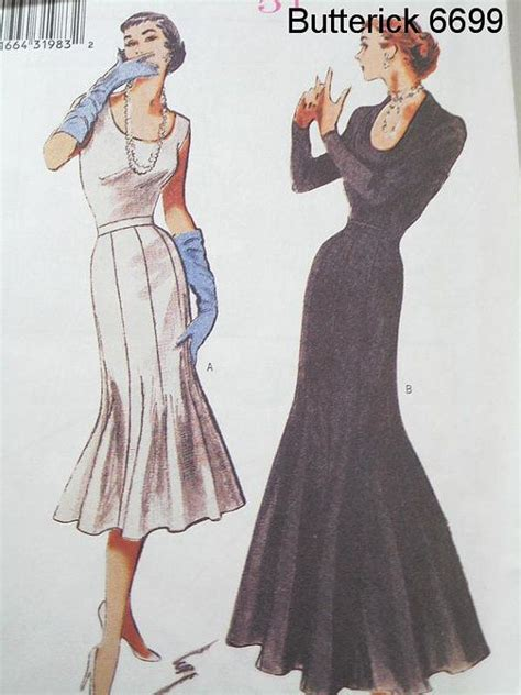 butterick  sewing pattern  vintage style trumpet