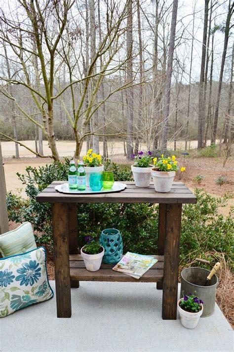 inexpensive potting bench potting bench and table ideas house of hawthornes