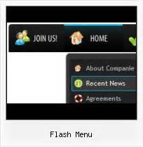 flash menu template