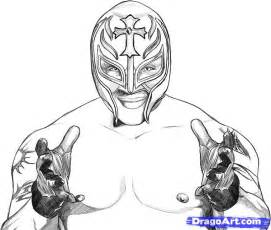 Rey Mysterio 619 Colouring Pages sketch template
