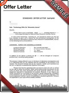 how to write an offer letter sle