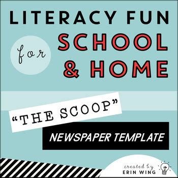 the scoop editable student newspaper template by erin