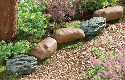 Faux Rocks For Garden Beautiful Rocks For Landscaping 7 Faux Garden Edging Newsonair Org