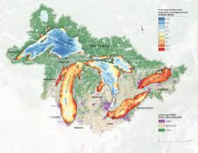 map of the great lakes in canada mapping the human impact on the great lakes canadian