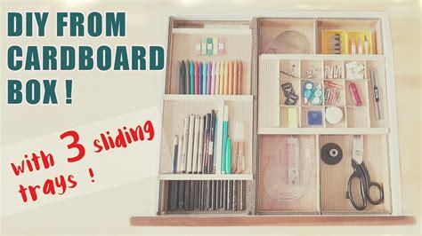 Cardboard Desk Drawers by 3 Level Cardboard Desk Drawer Organizer With Sliding Trays