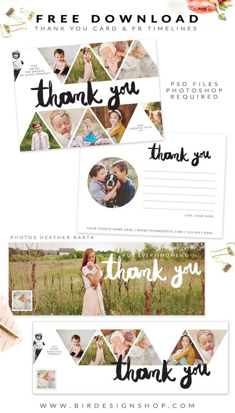 Thank You Card Psd Template Free by Free Thank You Card And Timelines Photoshop