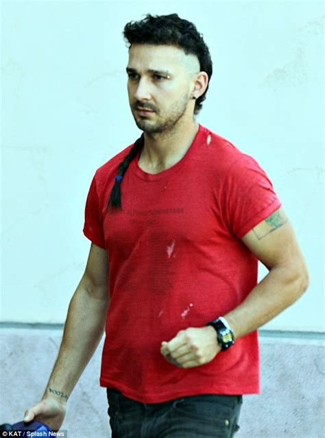 Shia Labeouf Hairstyle by Shia Labeouf Adds To His Mohawk Hairstyle As He Gets The