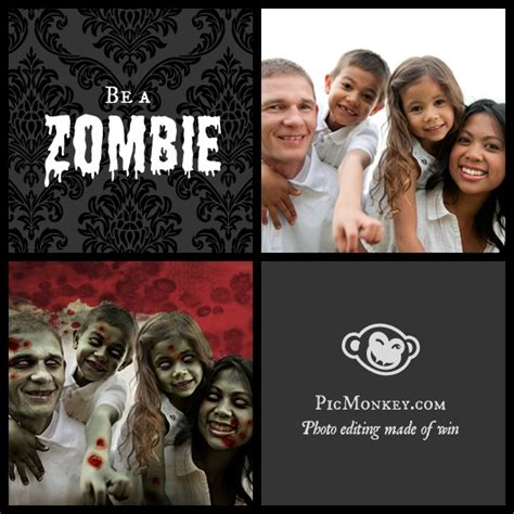 zombie yourself tutorial how to zombify yourself tutorial from picmonkey the o