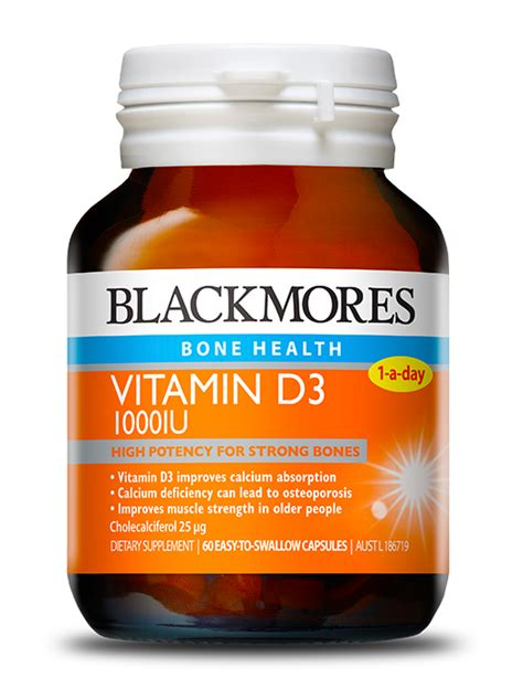 Blackmores Vitamin D3 1000 Iu 200 Capsul arthritis symptoms joint bone and information