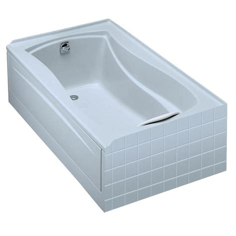 kohler soaking bathtubs kohler mariposa 5 ft left hand drain acrylic soaking tub