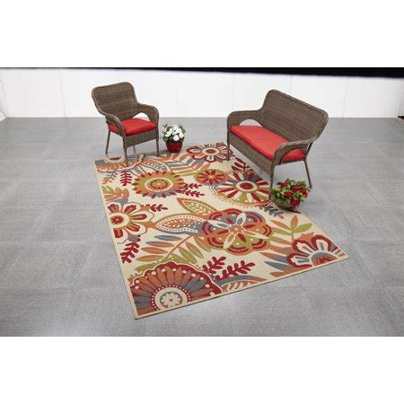 6x9 outdoor rug mainstays 6 6x9 6 floral outdoor area rug walmart