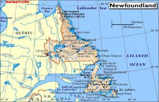 canada provincial map of newfoundland