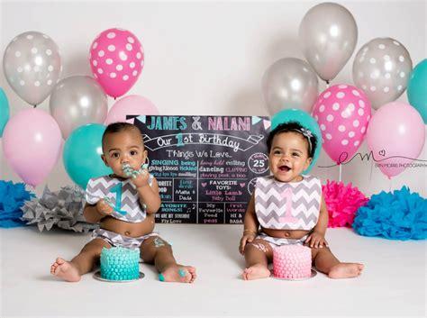 twins  birthday chalkboard  birthday poster